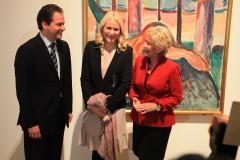 Max Hollein, Mette-Marit und Petra Roth