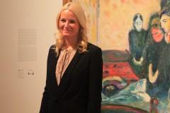 Mette-Marit vor Edvard Munch