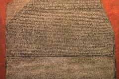 Rosetta mit ägyptischen Hieroglyphen